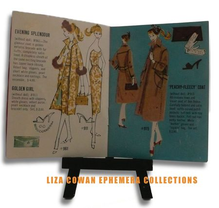 photo ©Liza Cowan. Barbie booklet 1958, evening splendor liza cowan ephemera collections