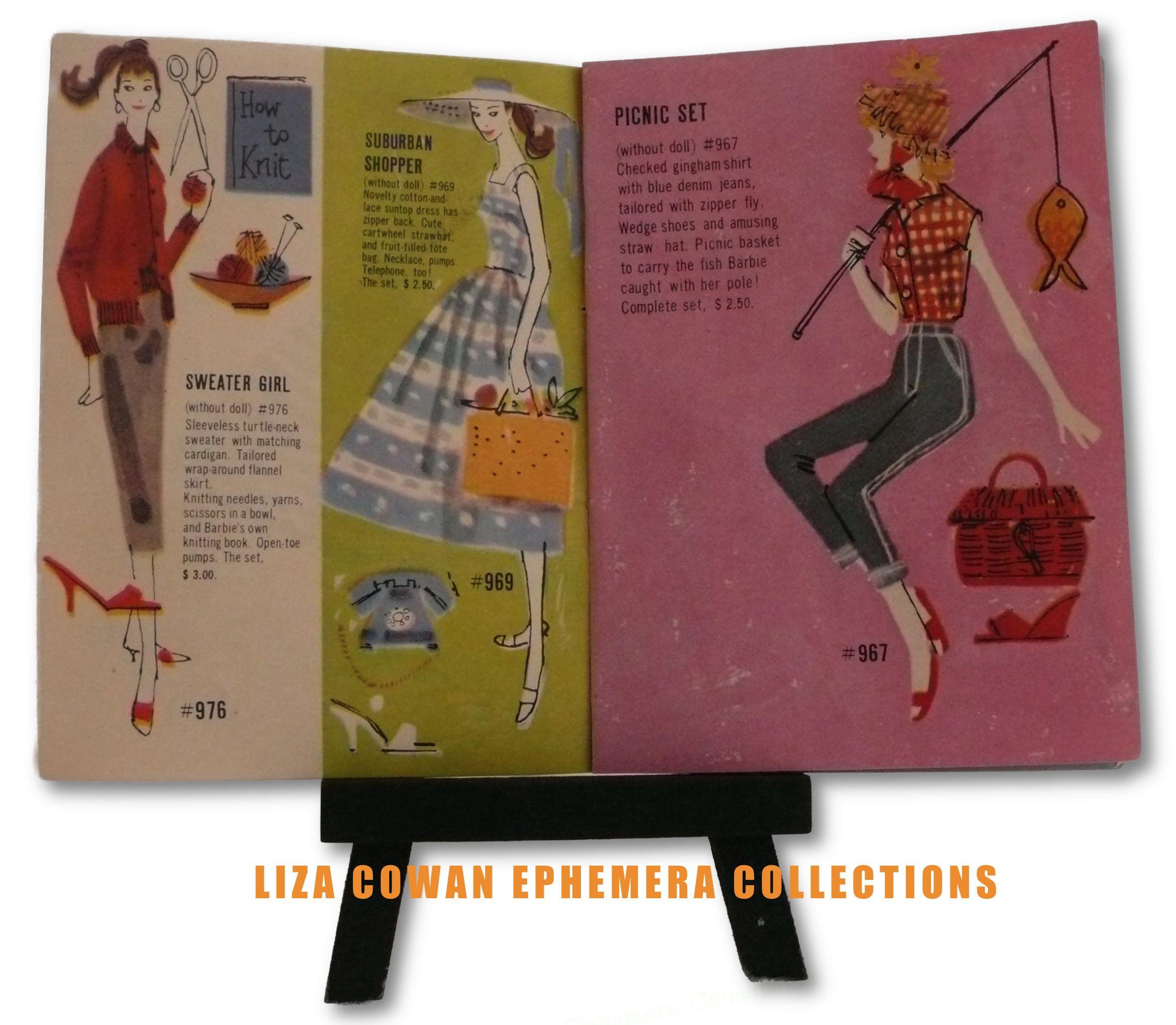 Barbie Teenage Fashion Model Booklet 1958 See Saw