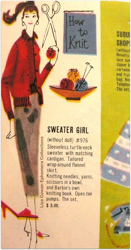 Barbie booklet 1958 sweater girl detail liza cowan ephemera collections
