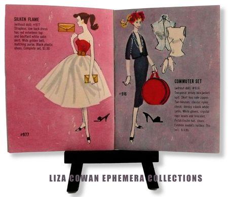 Barbie booklet 1958, silken flame, commuter set