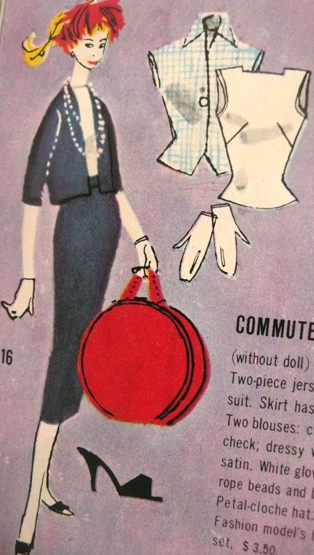 Barbie booklet 1958   commuter detail