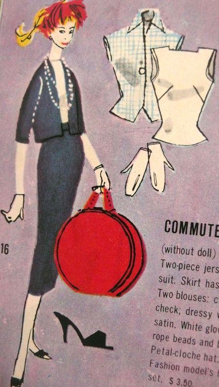 Barbie booklet 1958   commuter detail