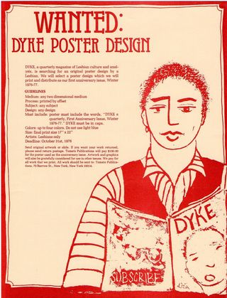 Dyke a quarterly flier for poster issue illustration by liza cowan
