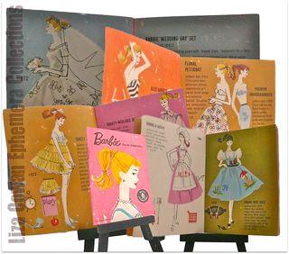 Barbie booklet 1958 pages. Photo © liza cowan