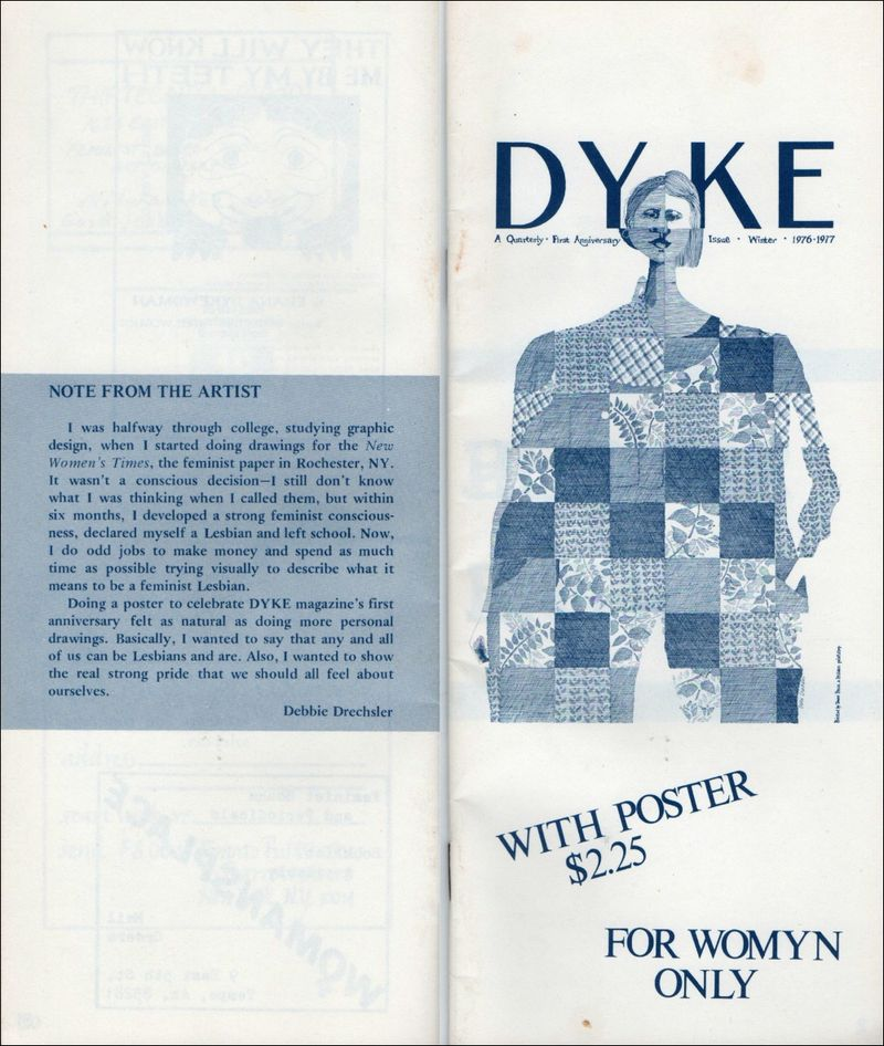Dyke a quarterly, no.4, front and back covers