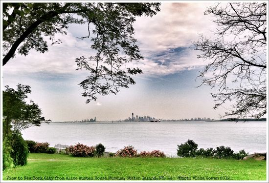 View to nyc from alice austen house staten Island. Photo © Liza Cowan. 2012