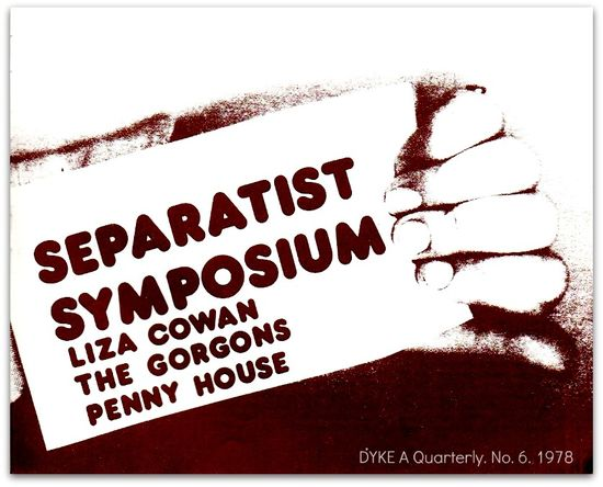 Separatist symposium, dyke a quarterly, 1978, title illustration