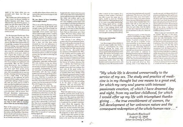 DYKE A Quarterly, Separatist Symposium, 1978 pp 35 36
