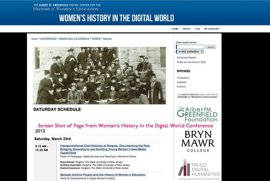 Women_s history in The Digital World Screen Shot
