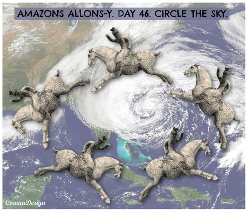 Amazons allons y day 46 circle the sky