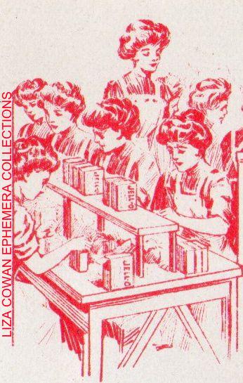 Detail workers in jello workroom