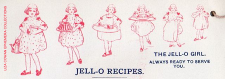 The jello girl, always ready to serve