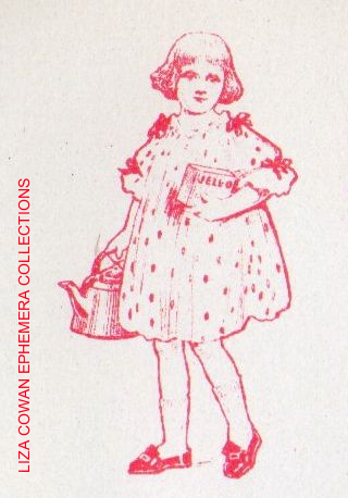 Jello recipe book, jello girl with kettle