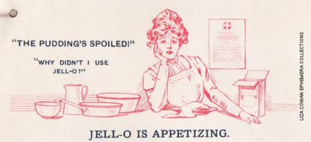 Jello recipe book, the pudding spoiled