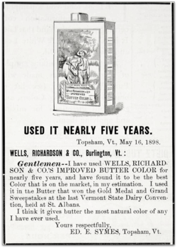 Wells richardson butter color ad