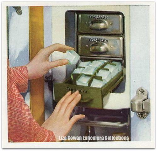 Frigidaire ice cowan ephemera collectionsations