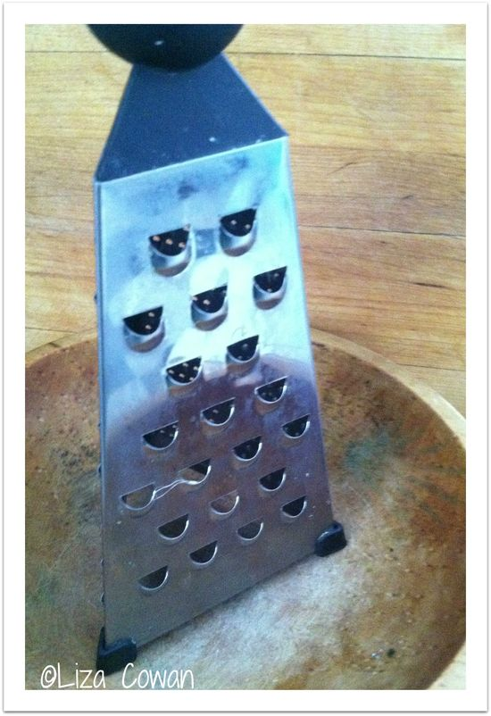 Grater for ginger lemon tea ©Liza Cowan