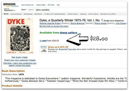 dyke a quarterly No. 1, at amazon dot com