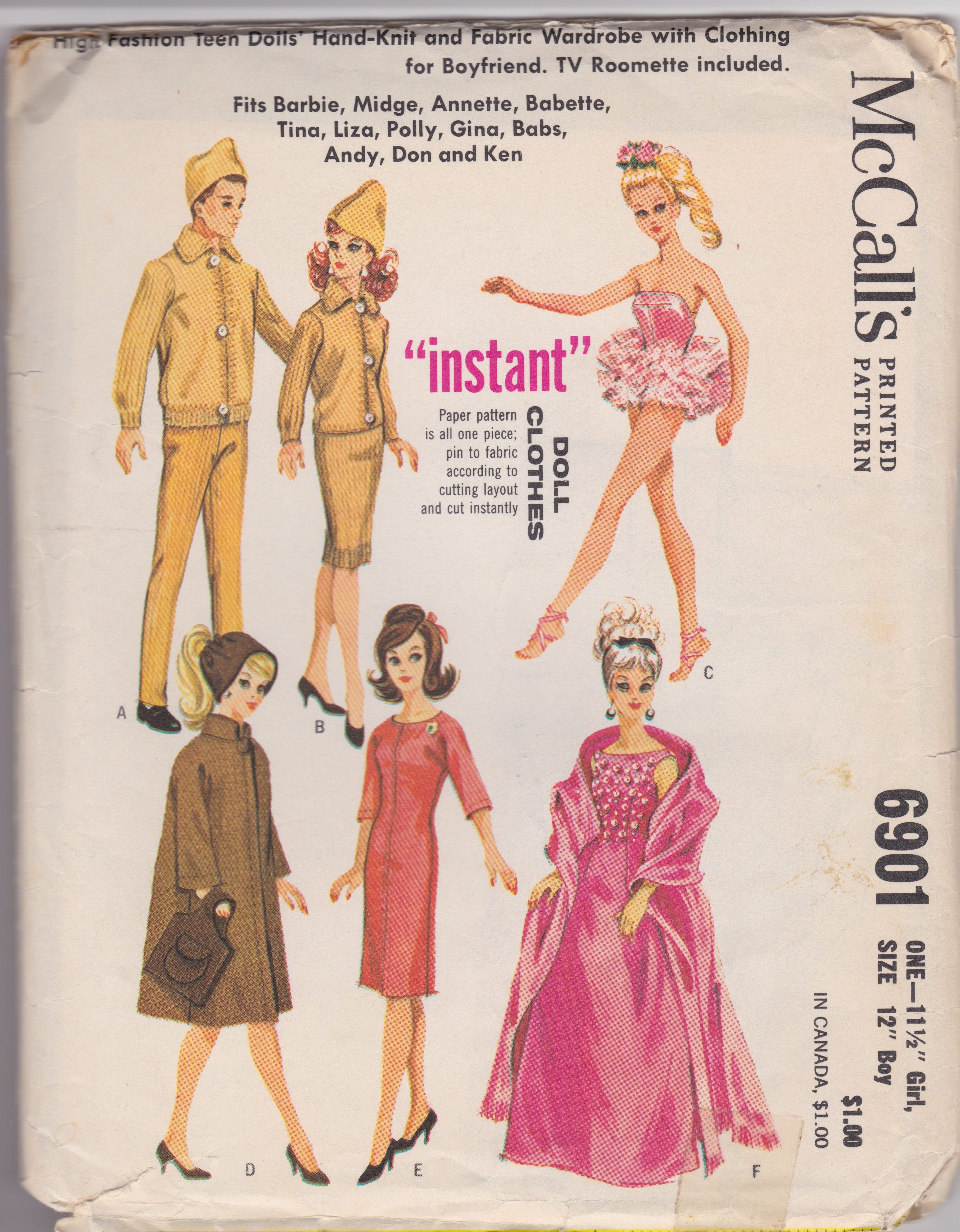 Barbie sewing patterns, vintage - See Saw