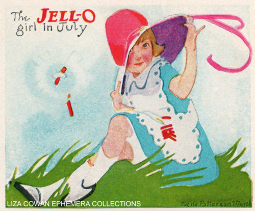 lucille patterson marsh, jello july 1924, liza cowan ephemera collections