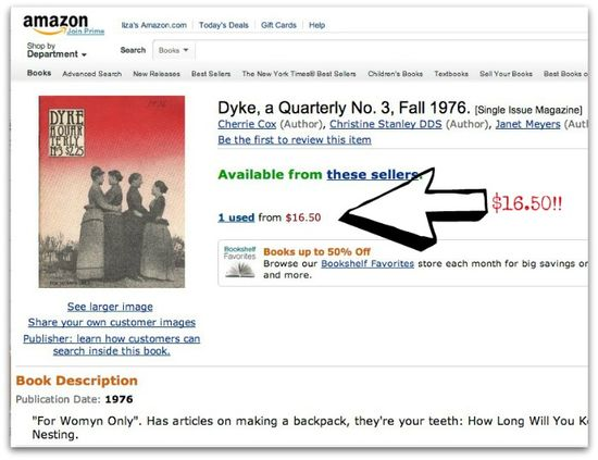 dyke a quarterly No. 3 at amazon dot com for