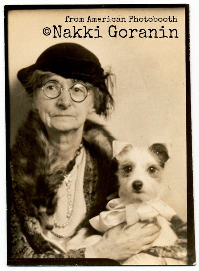 American Photobooth, Nakki Goranin, photo old lady, dog, wire terrier,