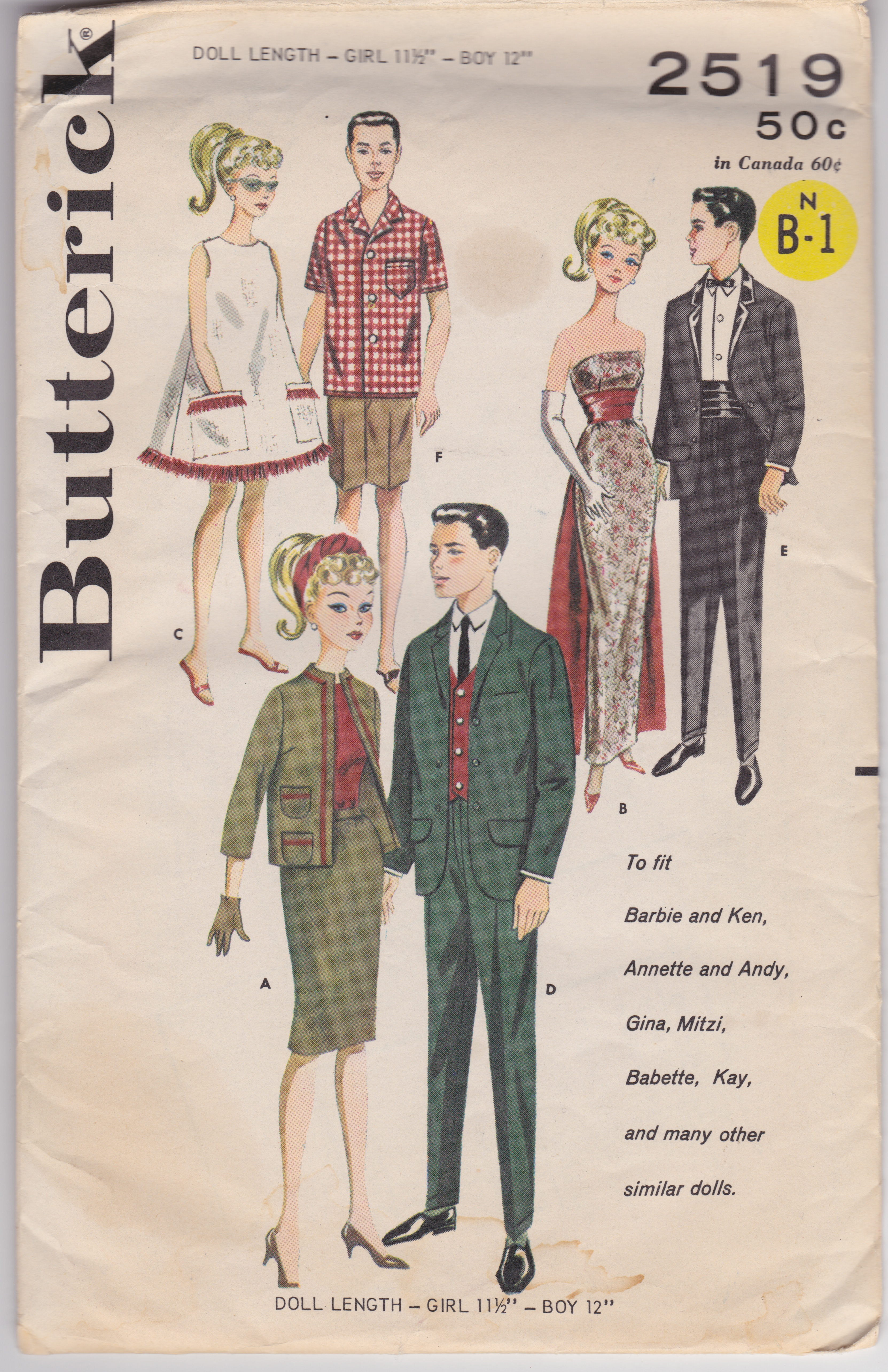 Barbie sewing patterns, vintage - See Saw