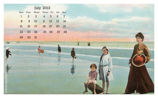 July 2013 calendar ©Liza Cowan