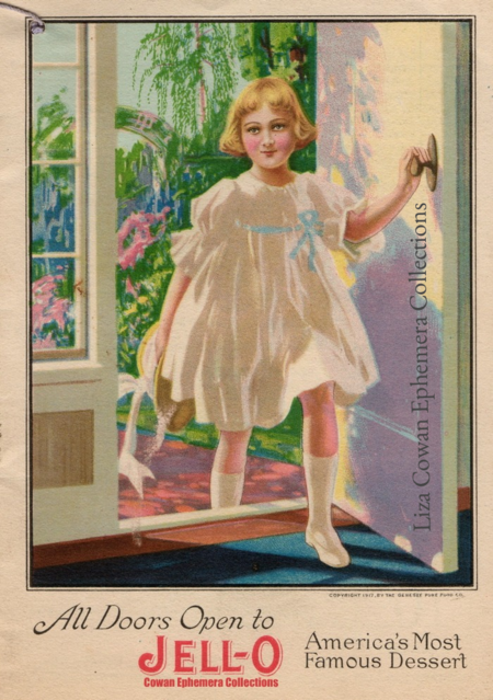 Jello girl all doors open cowan ephemera collections