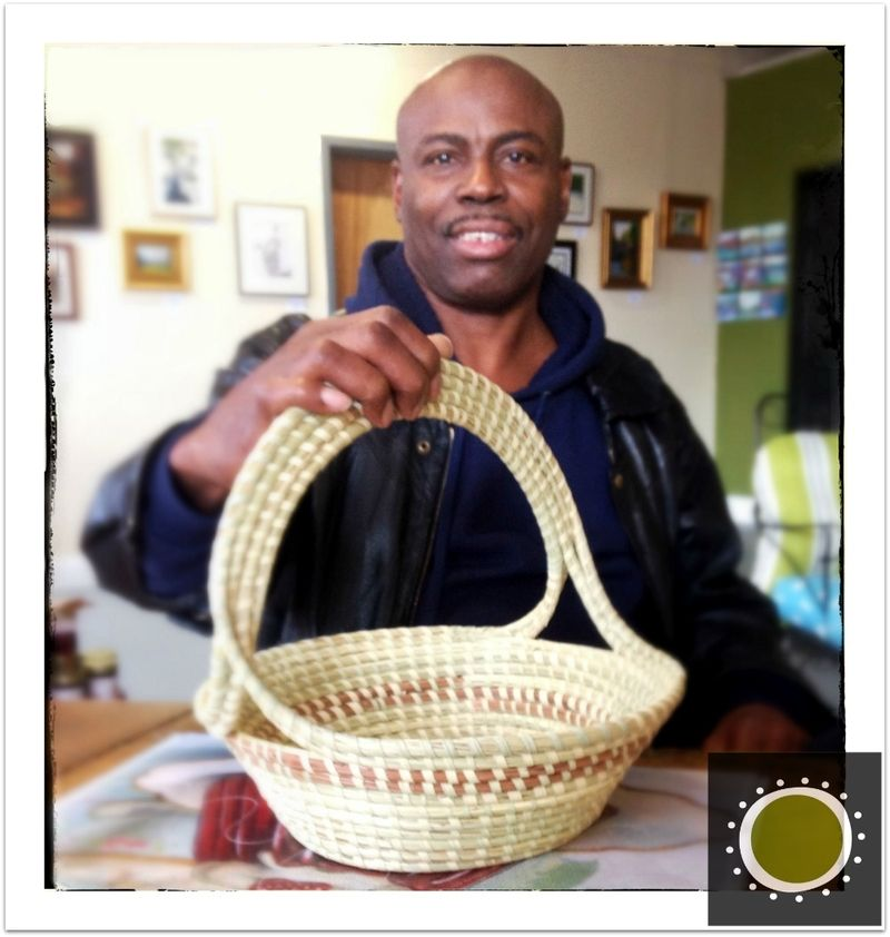 Henry Jerome Washington, sweetgrass basket, winooski circle arts, vermont