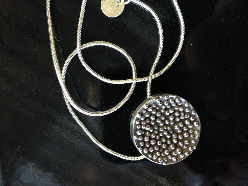 silver pendant, bella bueno, winooski circle arts, vermont