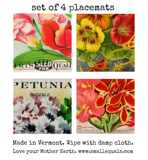 flower place mats from www.smallequals.com