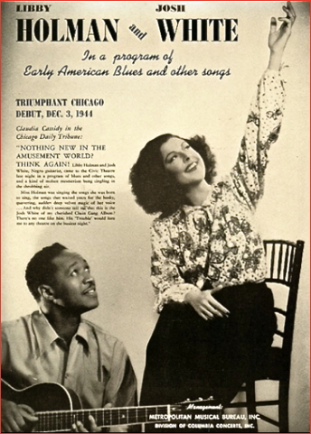 Libby Holman and Josh White 1944