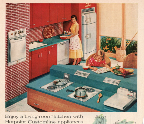 Kitchen, hotpoint 1956 Liza Cowan ephemera collections
