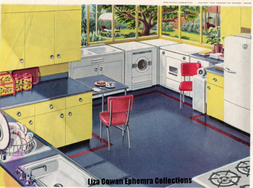 Kitchen, american gas association sat eve post 1949 Liza Cowan Ephemera collections