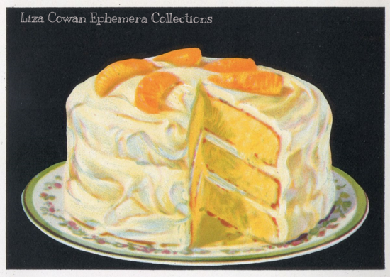 orange lemon frosting illustration merritt cutler cake yellow