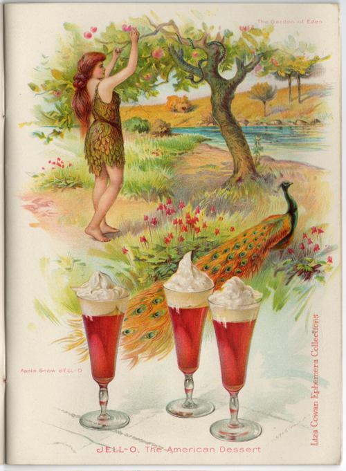 Jello Desserts. Eve in the Garden Of Eden. Liza Cowan Ephemera Collections