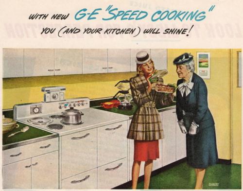 Kitchen,stove GE 1945 Good Housekeeping liza cowan ephemera collections