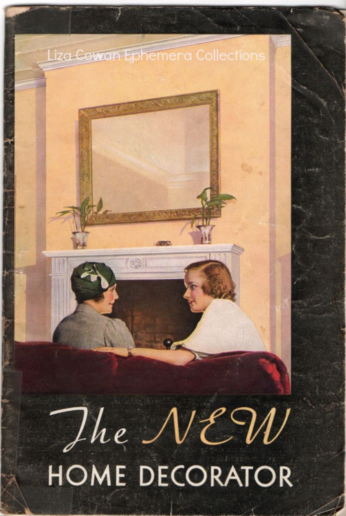 Sherwin Williams, New Home Decorator, 1934, cover, women in conversation