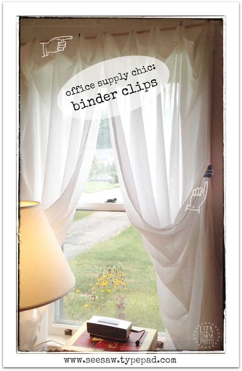 Diy Hang Curtains With Colorful Binder Clips See Saw