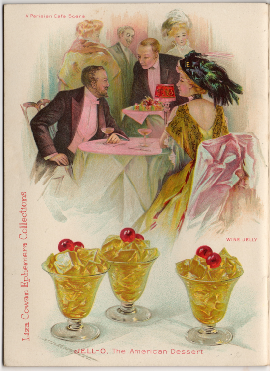 Jello Desserts, Paris. Liza Cowan Ephemera Collections