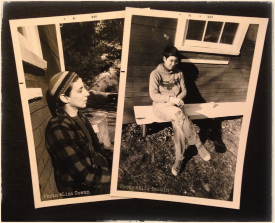 Snapshots of Liza Cowan and Alix Dobkin 1975 Potter Hollow NY