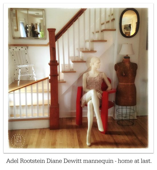 Adel rootstein diane dewitt mannequin in home of liza cowan. photo ©liza cowan 2015