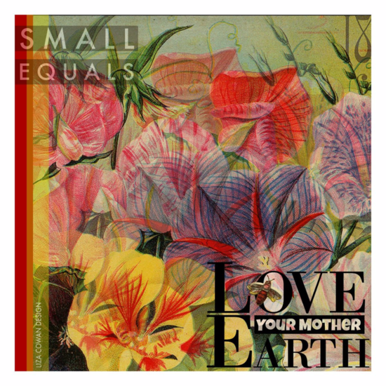 Love our mother earth digital collage by liza cowan