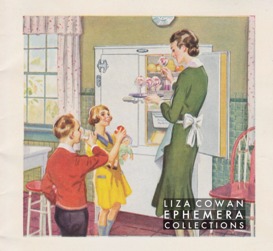 Liza cowan ephemera collections frigidaire 1931