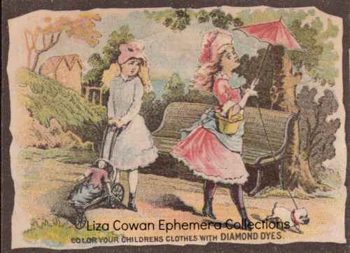 Diamond dyes color your children's clothes trade card Liza Cowan Ephemera Collections
