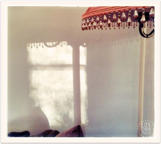 Winter afternoon shadow and orange lamp ©Liza Cowan 2014