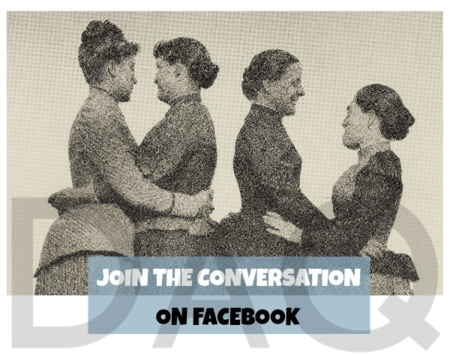 Join the conversation on facebook Dyke A Quarterly photo by Alice Austen design Liza Cowan