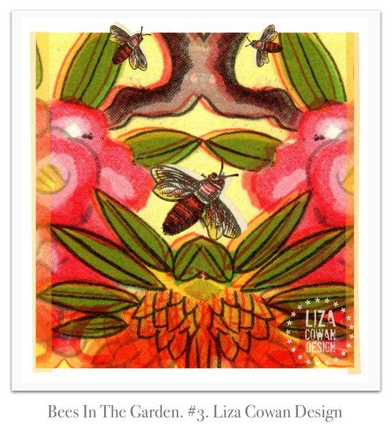 Bees in the garden #3. Liza Cowan Design