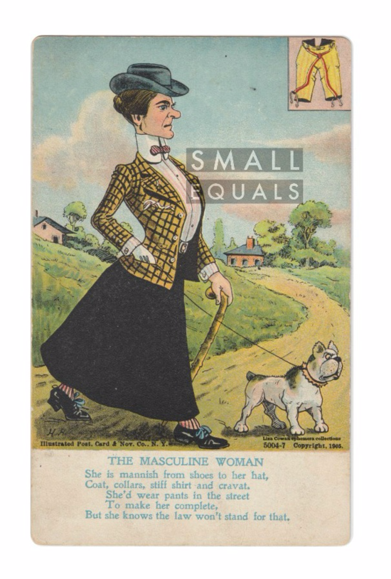 The Masculine Woman 1905 postcard